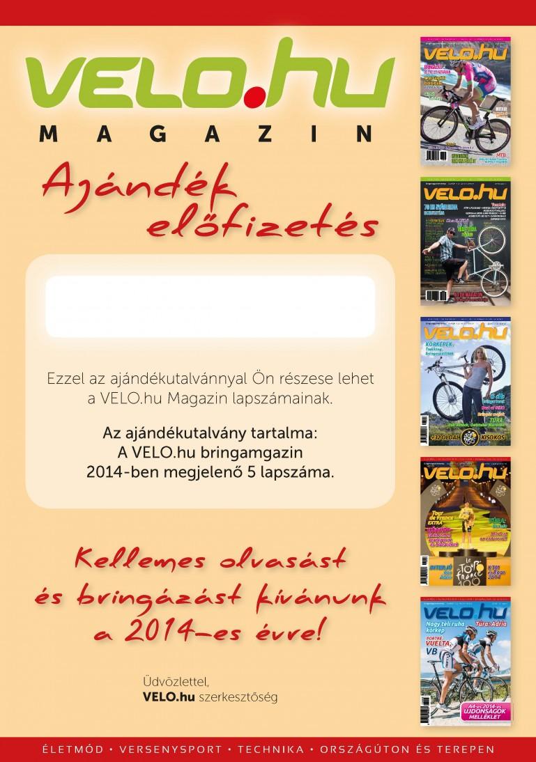 0f860d454e Ajándékötlet: 2014-es VELO magazin előfizetés karácsonyra